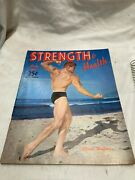 Vintage Strength And Health July 1951 Beefcake Male Form Body Monte Wolford