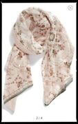 Ted Baker Majestic Silk Double Layer Sequin Jewel Scarf Wrap In Pink Magnolia