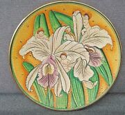 1979 Flower Children Plate V.tiziano Hand Etched And Painted By Veneto Flair Italy