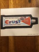 Crust Toothpaste 1973 Cloth Topps Wacky Packages