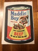 Topps Original Wacky Packages 1st Series Cloth Maddie Boy Dog Food 1973