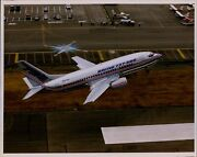 Lg787 Original Color Photo Boeing 737-500 Narrow Body Airliner Plane Takeoff