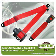 Rear Automatic Seat Belt For Colt Sigma 1600 Saloon 1976-1980 Red