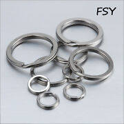 Key Ring Double Ring Stainless Steel Flat Open Key Ring Pull Ring 15-38mm