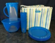 Tupperware Summer Picnic Set W/insulated Tote New Plates Tumblers Pitcher Bowl