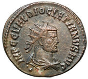 Diocletian Ae Radiate Portrait With Dot Under Bust Ric 306 Rare Gvf
