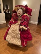 Mark Roberts Collection - Red Queen Doll W/ Chair 20 1/2 Inches