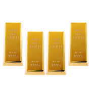 4 Pieces Hot Fake Fine Gold Bar Magic Prop 6and039and039 Display Bullion Toy Gifts
