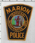 Marion Police Massachusetts 2nd Issue Shoulder Patch