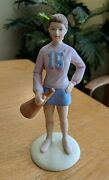 Growing Up Girls Andcopy1983 Enesco 6 1/2 Age 15 Girl In Skirt With Megaphone