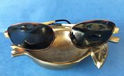 New Discontinued Two-tone Versace Sunglasses Gold Tortoise Medusas Made In Italy