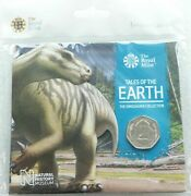 2020 Dinosaur Dinosauria Iguanodon 50p Fifty Pence Uncirculated Coin Pack Sealed