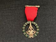 10k Gold Masonic Pin Medal 32 Degree Akron Oh Most Wise Master George Evans 26gr