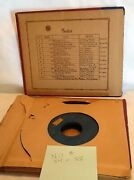Collectible Vintage Mix Lot Of 8 45rpm Records Rca Victor In Old Album Holder