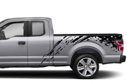 Bed Mud Splash Stripes Decal Sticker For Ford Supercab F150 2018 2019 2020 2021