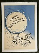 Wwii Ww2 Original World War Poster Snowball More Production Anti Axis Linen Back