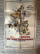 Mad Magazine Up The Academy Movie Poster Large Measures 27 X 41 Folded 1980