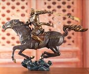 17and039and039 Top Copper Fine Workmanship Blessing Fortune Dragon Guan Gong On Horse