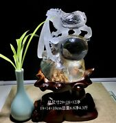 12and039and039 Natural 100 Rock Crystal Quartz China Feng Shui Wealth Dragon Turtle