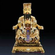 19and039and039 Bronze Gold Drawing Folk God Emperor The Supreme Deity Of Taoism Statue