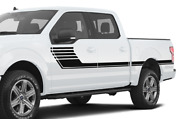 Racing Hockey Door Stripes Sport Wrap Decal Sticker For Ford Supercrew Cab F150