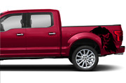 Bed Eagle Decal Sticker Graphic Side Stripe For Ford Supercrew Cab F150 2019