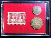 Queen Mary King George V Silver Jubilee 1910 1935 Stamp And Coin Set