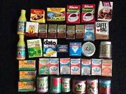 Toy Play Food Vintage German Dollhouse Miniature Boxes And Tins