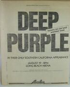 Deep Purple Bogus Concert Full Page Ad - Long Beach Arena, August 19th 1980
