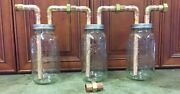 3-3/4andrdquo Mason Jar Thumpers For Wide Mouth 1/2 Gallon Mason Jars With Fittings