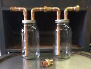 """2-3/4"""" Mason Jar Thumpers, For Wide Mouth 1/2 Gallon Mason Jars, With Fittings"""