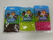 Perler Beads Lot 3 Packs 1000 Each Iron On Fuse Beads Pink Brown Prickly Pear