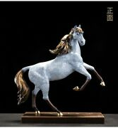 16and039and039 Top Copper Fine Workmanship Blessing Fortune Treasure Animal Horse Statue