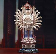 22and039and039 Dehua White Porcelain Pottery Painting Thousand-hand Kwan-yin Guanyin