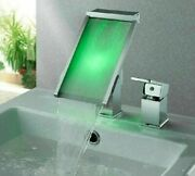 Chrome Polished Durable Faucets Deck Mounted Tap Single Handle Ceramic Spout New