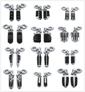 1 1/4 32mm Engine Guard Footpeg Footrest Clamps Mounting Kit For Harley Touring