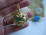 Mermaid Locket With One Or Three Sea Glass Marbles - Interchangeable And Openabl