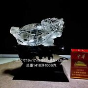 8and039and039 Natural 100 Rock Crystal Quartz China Feng Shui Wealth Animal Dragon Turtle