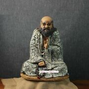 23and039and039 China Porcelain Ceramic Art Pottery Handwork Seated Buddhism Bodhidharma