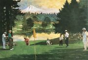 Bart Forbes Signed And Numbered Limited Edition Golf Print, Fred Meyer Challenge