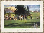 Bart Forbes Print Signed By Peter Jacobsen Arnold Palmer Fuzzy Zoeller John Daly