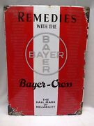 Vintage Enamel Porcelain Sign Remedies With The Chemist Advertise Germany