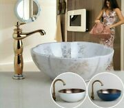 Durable Bathroom Sinks Antique Brass Swivel Faucets With Chrome Pop-up Drain New