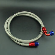 An10 Nylon Braided Oil Fuel Line Hose 1.6m + Straignt + 90anddegswivel Fitting Red
