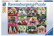 """Ravensburger 'puppy Pals' Jigsaw Puzzle 500 Pieces 19.3""""x14.2"""" Made In Germany"""