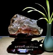 8and039and039 Natural 100 Rock Crystal Quartz China Feng Shui Animal Fox Statue