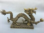 25and039and039 Brass Copper Furniture Decorate Animal Treasure Imperial Wealth Dragon