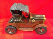 Metal And Wood Wooden Ford Model T/a Model Car Automobile Large Man Cave. Heavy