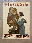 For Home And Country - Victory Liberty Loan By Alfred Everitt Orr 1919 Poster