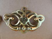 2 New Antique Pitted Brass Bail Drawer Pulls Cabinet/furniture Hardware700-96
